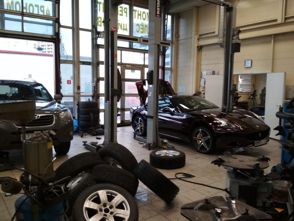 Замена шин на Ferrari California